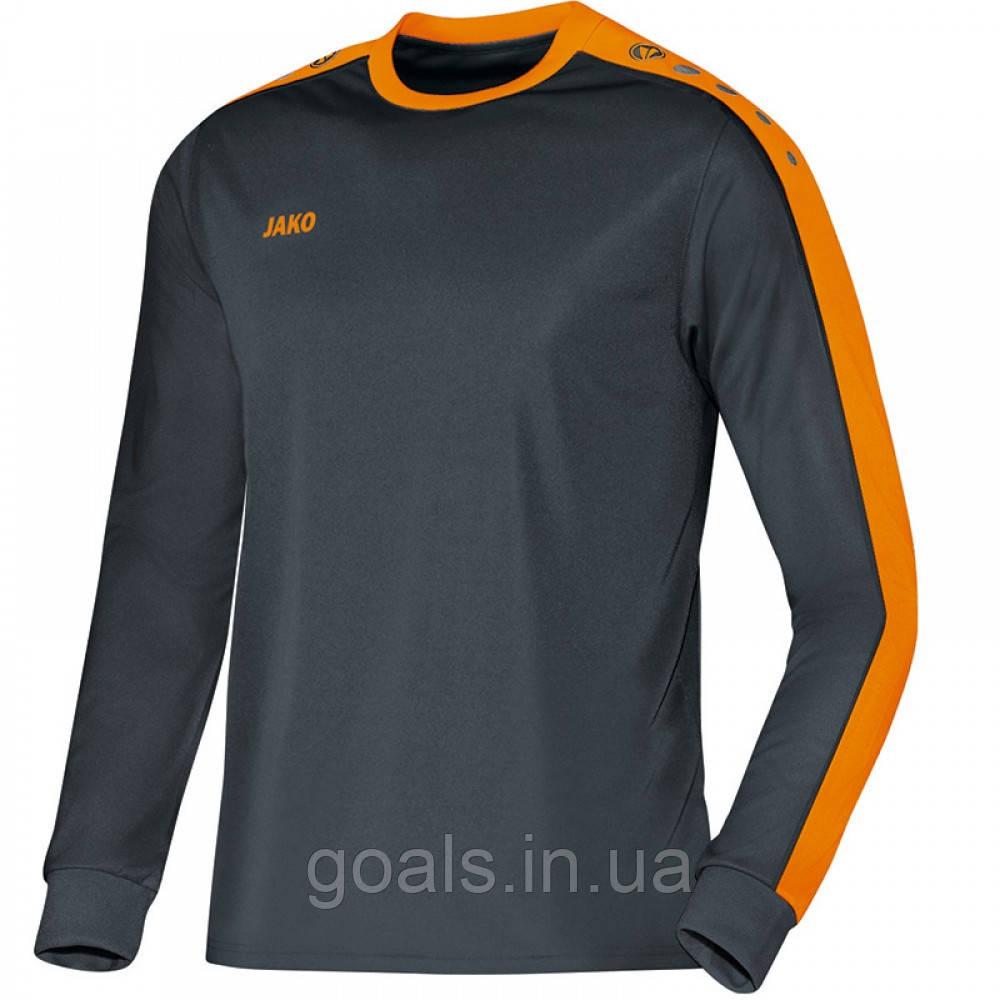 Футболка футбольная с длинным рукавом Jersey Striker L/S (anthracite/neon orange)