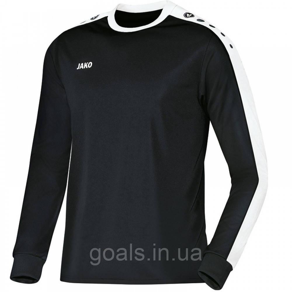 Футболка футбольная с длинным рукавом Jersey Striker L/S (black/white)