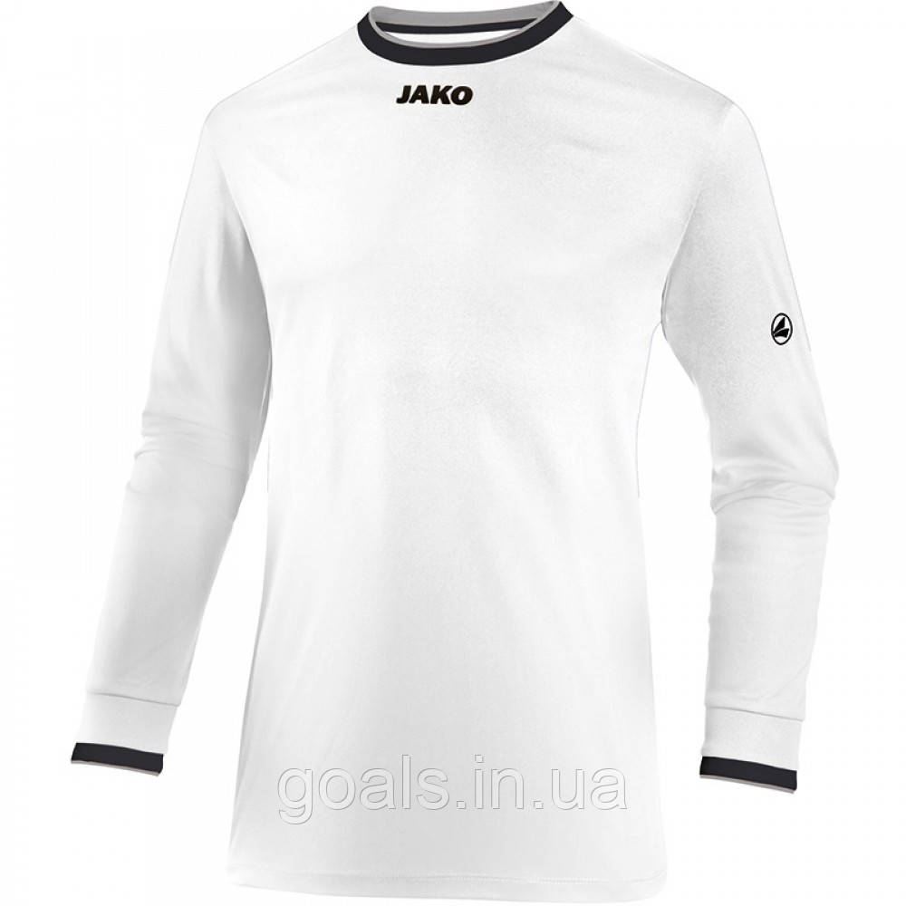Футболка футбольная с длинным рукавом Jersey United L/S (white/black/grey)