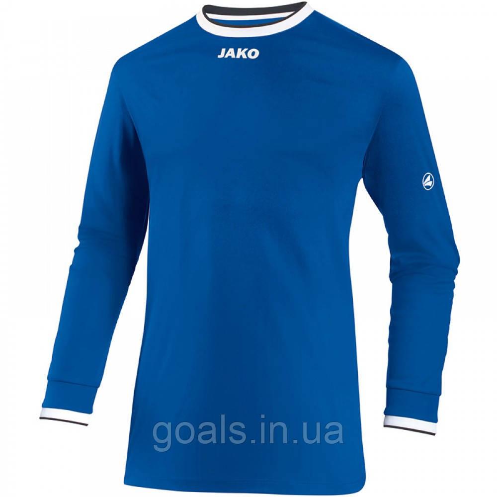 Футболка футбольная с длинным рукавом Jersey United L/S (royal/white/black)