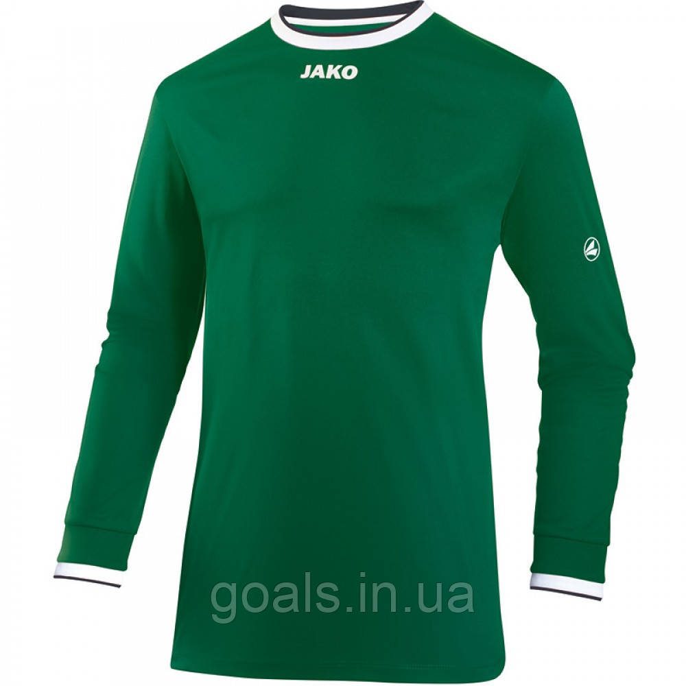 Футболка футбольная с длинным рукавом Jersey United L/S (green/white/black)