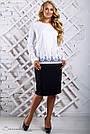 Белая блуза с вышивкой с длинным рукавом софт, фото 2
