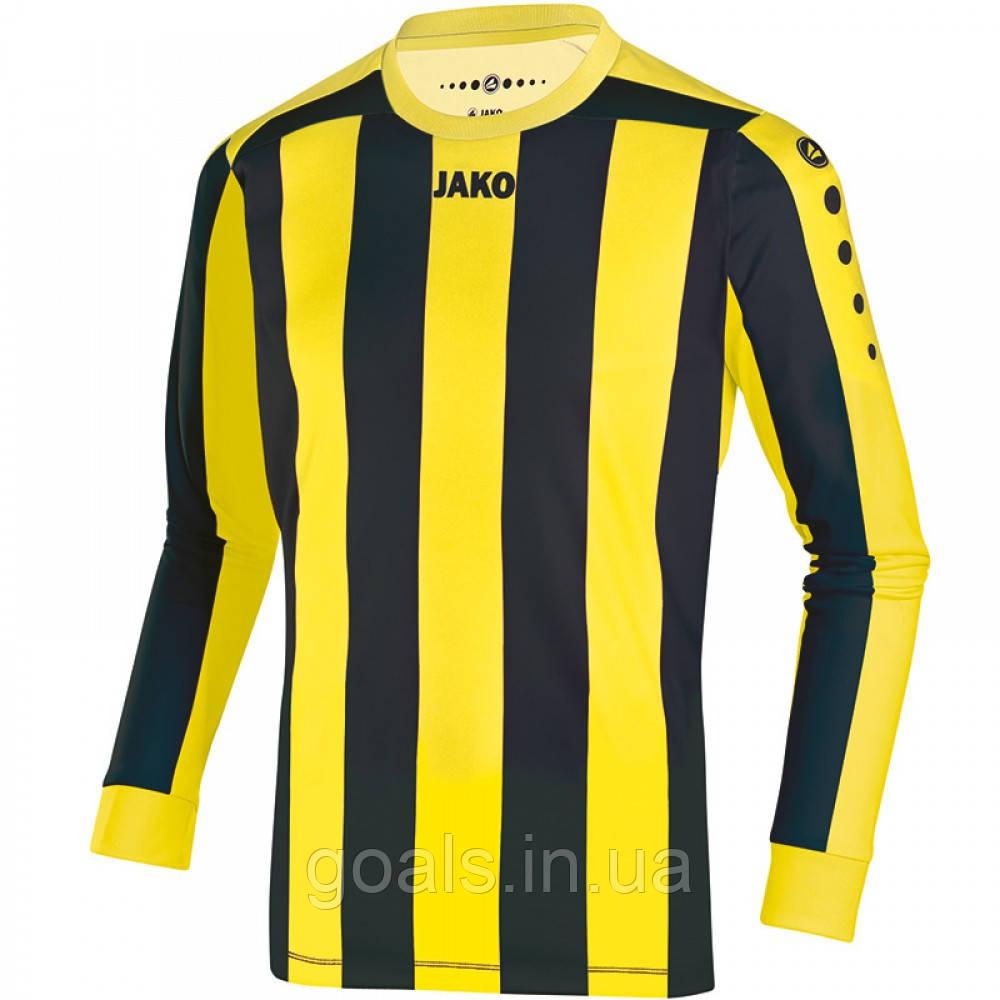 Футболка футбольная с длинным рукавом Jersey Inter L/S (citro/black)