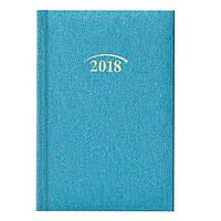 Ежедневник датированный 2018 Brunnen Denim Карманный 10х14 см бирюзовый