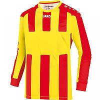 Футболка футбольная с длинным рукавом Jersey Milan L/S (citro/red)