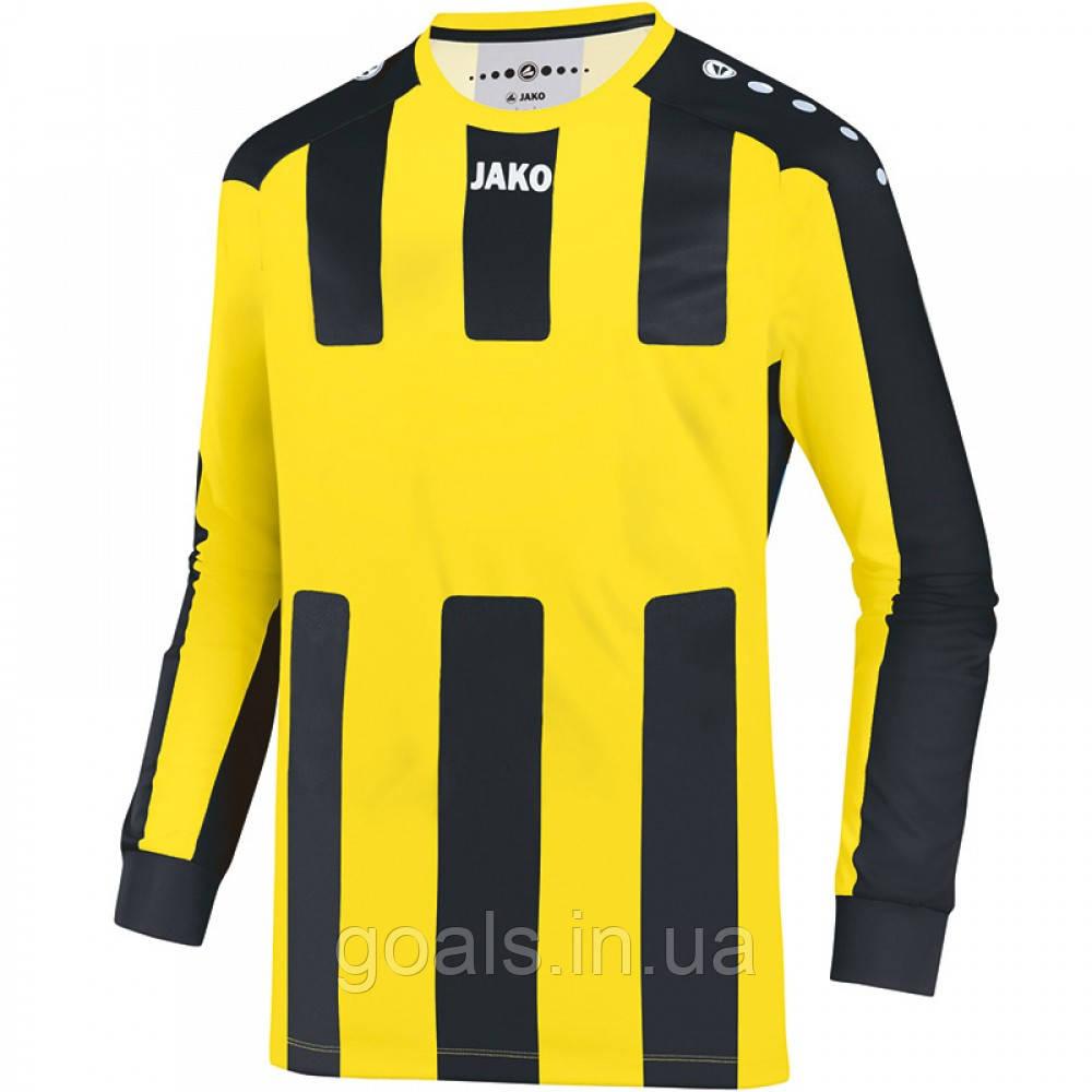 Футболка футбольная с длинным рукавом Jersey Milan L/S (citro/black)