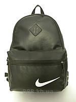 Стильный городской рюкзак NIKE, рюкзак кожаный, черный кожаный рюкзак не оригинал, фото 1