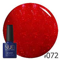 ГЕЛЬ-ЛАК NUB  CELEBRITY 072 (темно-красный с красным микроблеском)