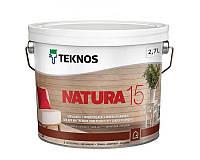 Лак акриловый TEKNOS NATURA 15 мебельный полуматовый 2,7л
