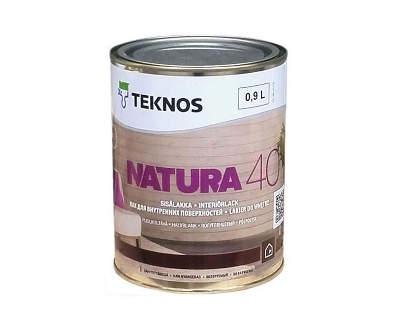 Лак акриловый TEKNOS NATURA 40 мебельный полуглянцевый 0,9л