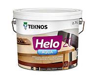 Лак полиуретановый TEKNOS HELO AQUA 20 для паркета и мебели полуматовый 2,7л