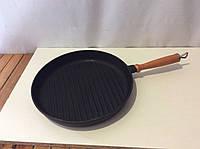Чугунная сковорода гриль 280х40мм