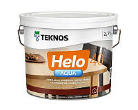 Лак полиуретановый TEKNOS HELO AQUA 40 для паркета и мебели полуглянцевый 2,7л