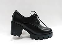 Туфли кожаные со шнурками и молнией.Маленькие размеры (33 - 35)., фото 1