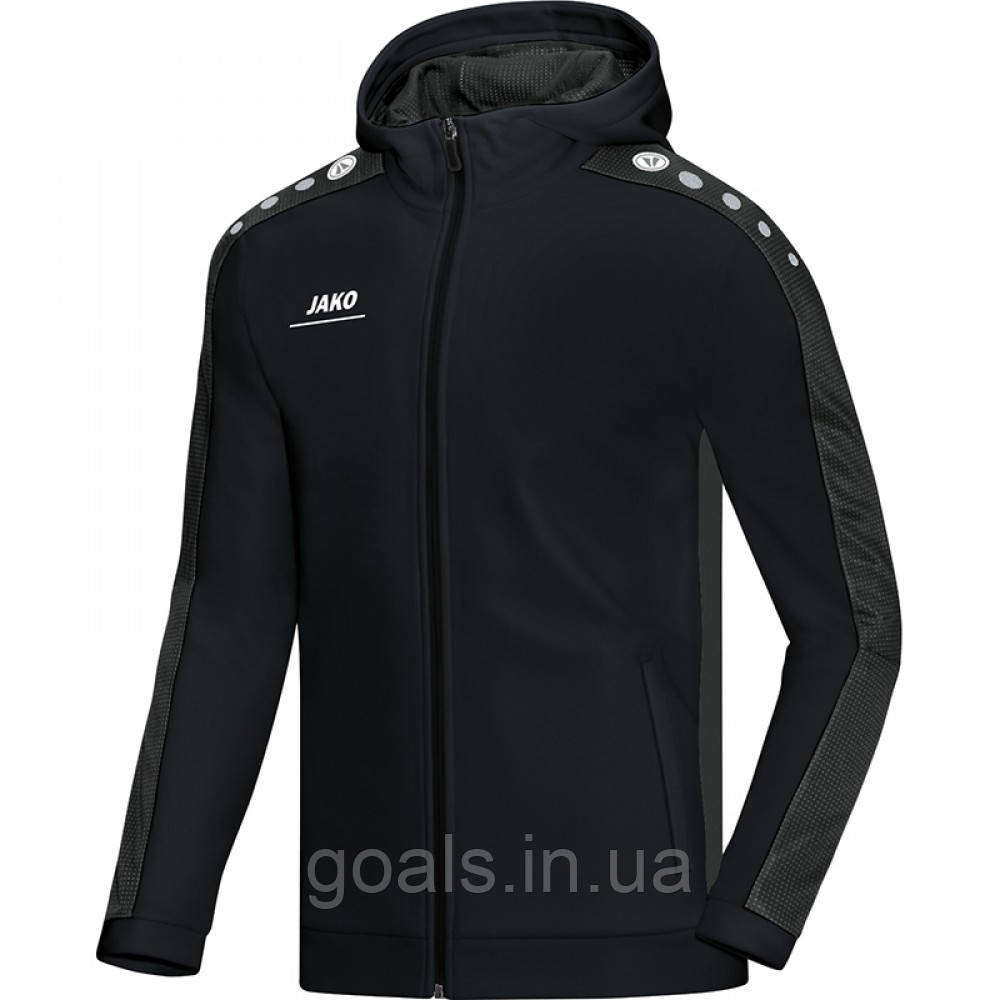 Куртка с капюшоном Striker (black/grey)