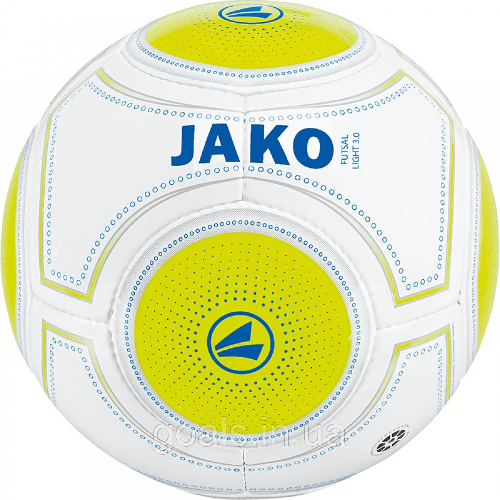 "Футбольный мяч ""JAKO""  (white/lemon/navy-290g)"