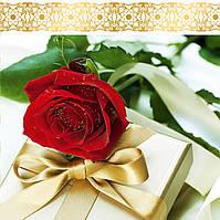 Пакет подарочный бумажный чашка 16х16х7 (22-045)