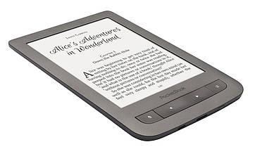 """PocketBook Электронная книга Touch Lux 3 (626) Grey (PB626(2)-Y-CIS); 6"""" (1024х758) E Ink Carta HD, 212 dpi, с подсветкой, ОЗУ 256 МБ, 4 ГБ встроенная"""