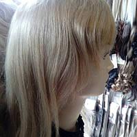 Парик из натуральных волос молодежный светлый