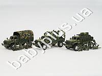 Военная машина, инер-я, звук, свет, на бат-ке(табл), 3 солдата, 3 вида, в кульке 282BCT