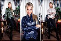 Женская куртка из эко-кожи №5037(р.42-46)