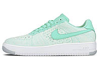 Женские кроссовки Nike Air Force 1 Flyknit Low Hyper Turq/ Hyper Turq