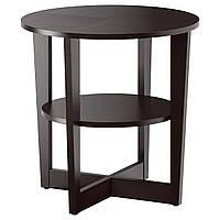 Журнальный столик IKEA VEJMON придиванный с полкой черно-коричневый 401.366.81