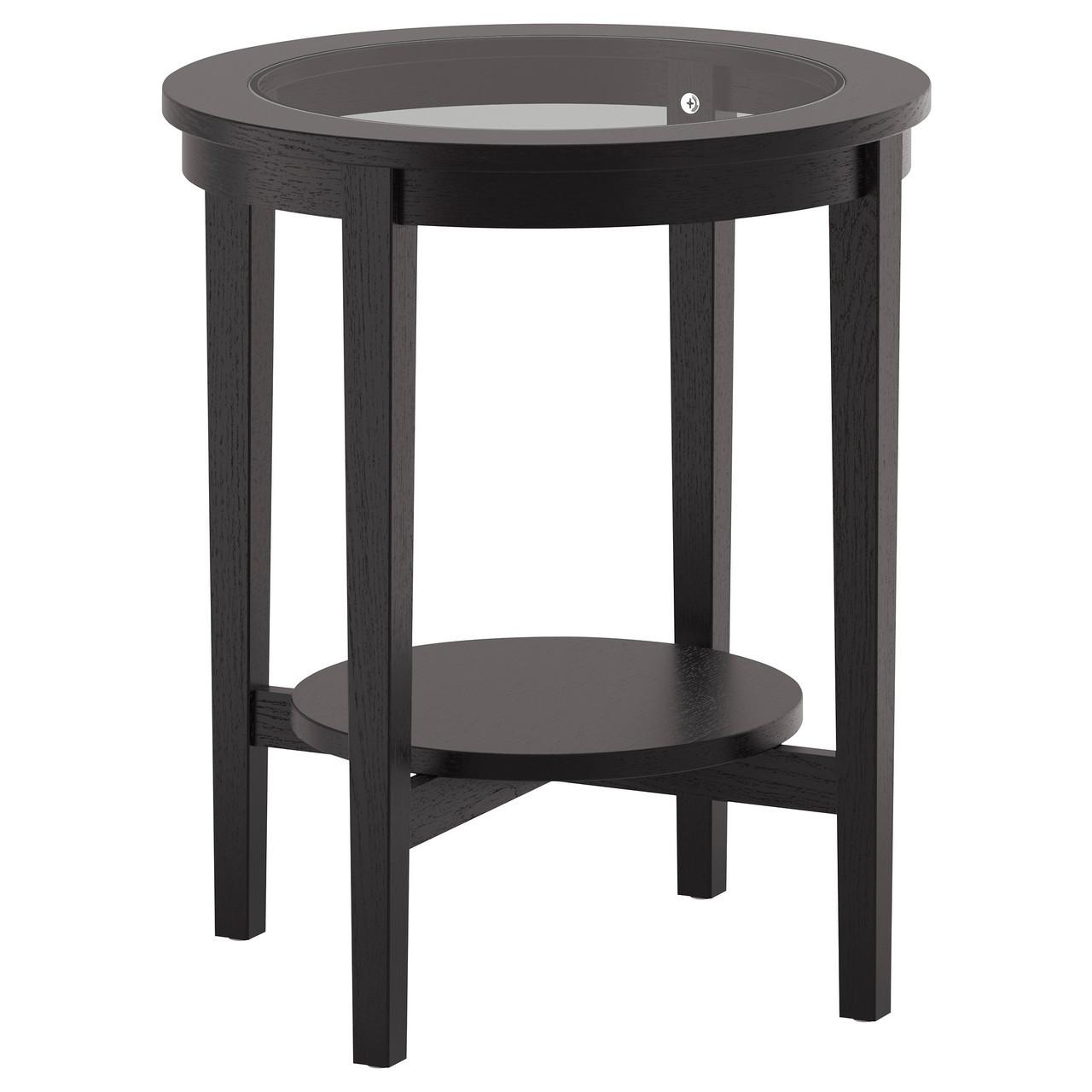 журнальный столик Ikea Malmsta придиванный черно коричневый 802611