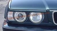 Реснички на фары для BMW 5 E34 1988-1997 ровные