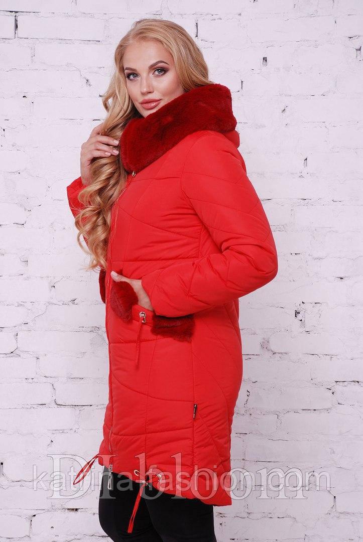 b31d11bbea5 Женская красивая куртка с мутоном (7 цветов) - KATRINA FASHION - оптовый  интернет-