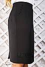 Женская прямая чёрная юбка с кружевом, р. от 50 до 56, фото 3
