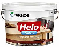 Лак полиуретановый TEKNOS HELO AQUA 80 для паркета и мебели глянцевый 9л