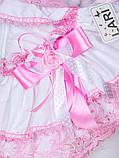 """Набор для девочек """"Луиза"""", белый + розовая отделкой 3-х предметный, фото 3"""
