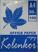 Бумага офисная А4 100 листов 80гр/м