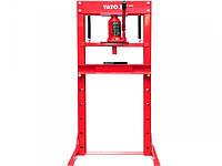 Пресс гидравлический рамный YATO ; нагруз.- 12 т, раб. зона- 0-695 мм, ширина рамы- 400 мм