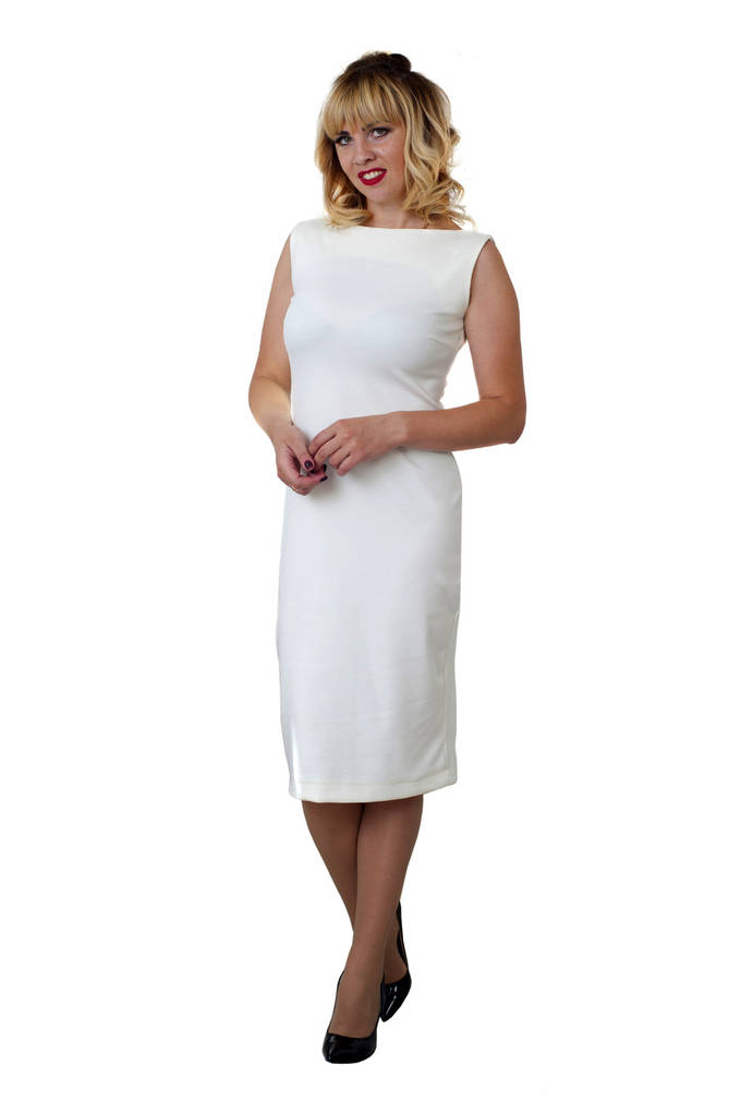 Женское платье Линда 0201_1 Молочное