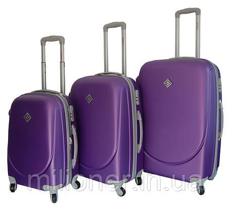 Чемодан Bonro Smile набор 3 штуки фиолетовый, фото 2