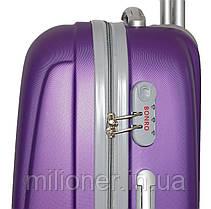 Чемодан Bonro Smile набор 3 штуки фиолетовый, фото 3