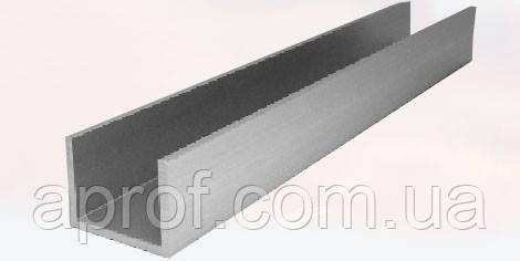 Алюминиевый П-образный профиль 12х12х1,5мм (АНОД)