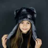 DemboHouse. Зимова шапочка для дівчинки Мессі сіра 0093 0190ec0b6d656