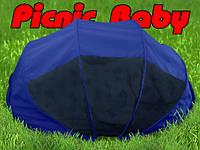 Складная сумка-кровать с матрасом и подушкой «Picnic Baby» Синяя