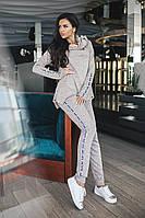 Шикарный спортивный комплект, кофта с хомутом и штаны с карманами.