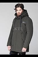 Зимняя теплая мужская куртка на синтепухе