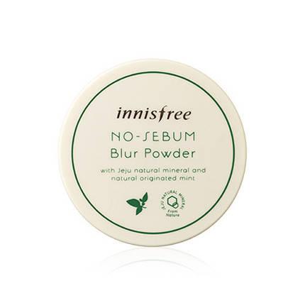 Выравнивающая тон кожи матирующая рассыпчатая пудра Innisfree No sebum blur powder, 5гр, фото 2