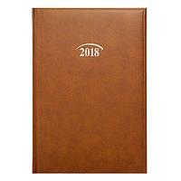 Ежедневник датированный 2018 BRUNNEN MIRADUR Стандарт 7956070 коричневый