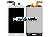 Оригинальный Дисплей (Модуль) + Сенсор (Тачскрин) для LG D320 Optimus L70 |  D321 |  MS323 (Белый)
