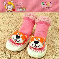Пинетки для новорожденных розовые тигрик Djan F11-2 6-12