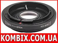 Переходник Canon FD – Canon EF с линзой и с чипом, фото 1