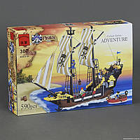 """Конструктор """"Пиратский корабль"""" 590 деталей Brick-307"""