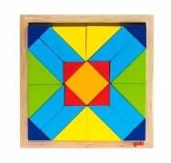 Пазл головоломка деревянный goki 57572-4 Мир форм-прямоугольник